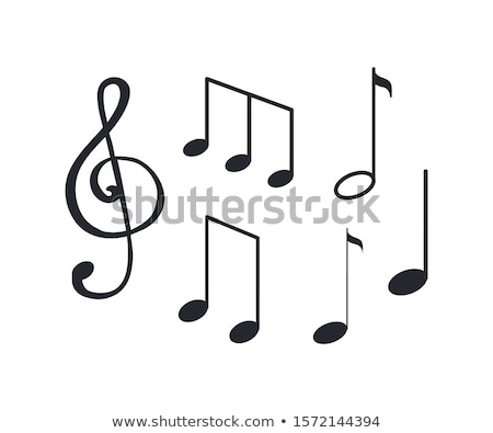 Musiknoten Melodie Zeichen monochrome Skizze Gliederung Stock foto © robuart