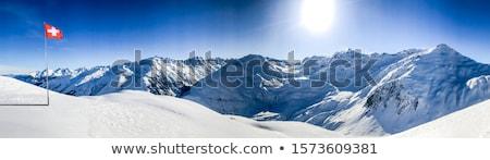 зима декораций Альпы красивой небе дерево Сток-фото © unkreatives