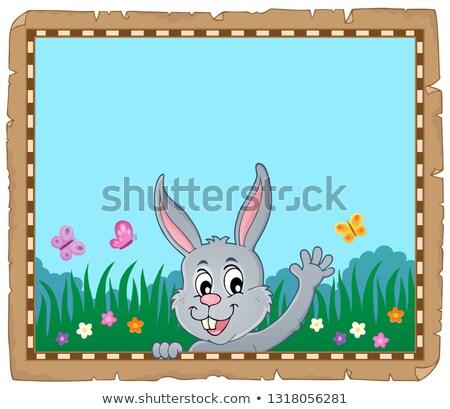 Pergamino Conejo de Pascua papel arte vacaciones cabeza Foto stock © clairev