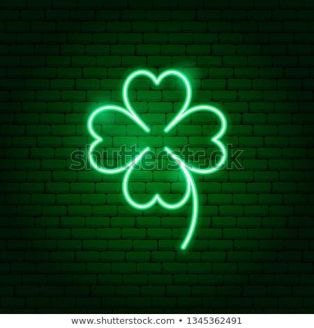 Zielone neon charakter promocji wiosną szczęśliwy Zdjęcia stock © Anna_leni