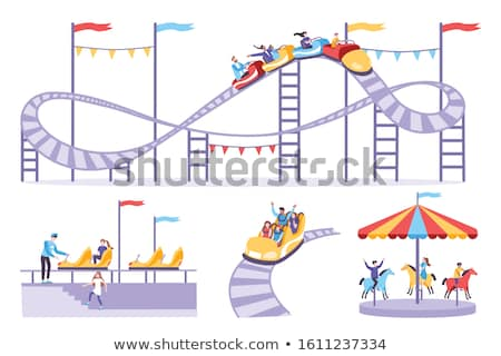roller coaster cart icon stock photo © angelp
