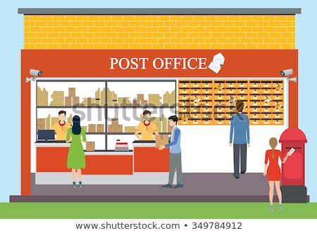 люди почтовое отделение иллюстрация девушки ребенка мужчин Сток-фото © artisticco