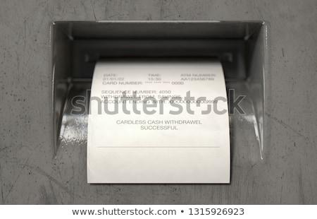 ATM nakit görmek baskı Stok fotoğraf © albund