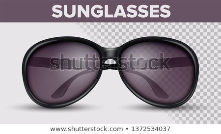 Black Circle Sunglasses, Trendy Vector 3D Shades Stock photo © pikepicture