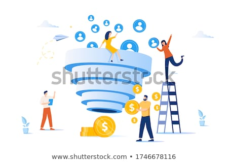 Sales pipeline management concept vector illustration. Stockfoto © RAStudio