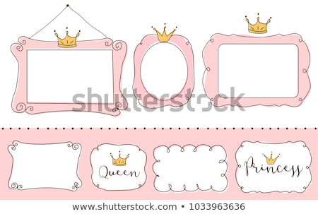 Pink frame with childrens toys Stock photo © colematt