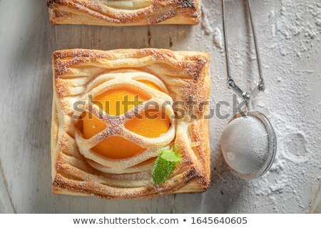 Peach Pie made with puff pastry Stock photo © BarbaraNeveu