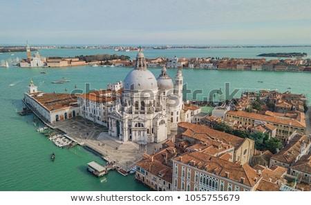 バシリカ サンタクロース ヴェネツィア イタリア 水 日没 ストックフォト © neirfy