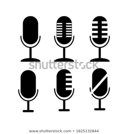 Different microphones types flat icon set Stock photo © netkov1