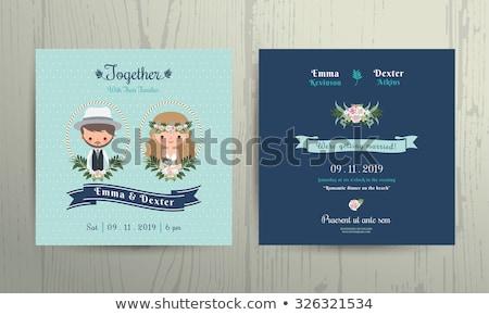 Noivo noiva casamento vetor recém-casados Foto stock © robuart