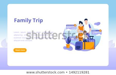 Travel Trip Landing Page Stock photo © Anna_leni