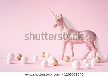 hermosa · rosa · ilustración · caminando · oro - foto stock © liolle