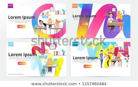 back to school vector concept web design page templates vector illustration for banners invitation stock photo © ikopylov