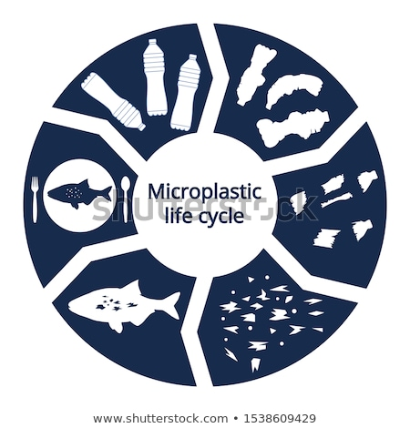 microplastic pollution in ocean sea stock photo © lunamarina