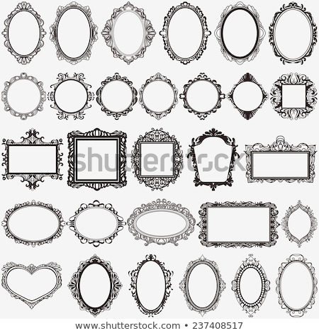 Baroque mirror frame square Vector. Victorian ornamented border  Stock photo © frimufilms