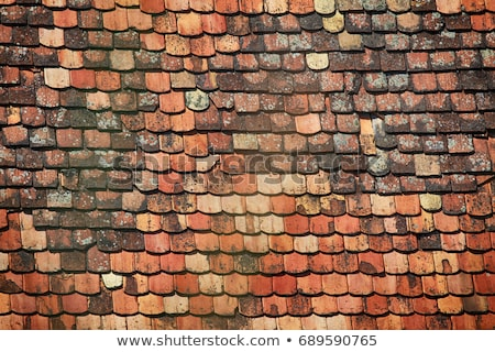 Stok fotoğraf: Detail Of The Old Roof Tiles