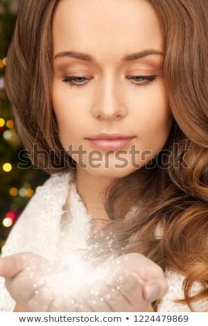 Bela mulher fadas poeira férias Foto stock © dolgachov