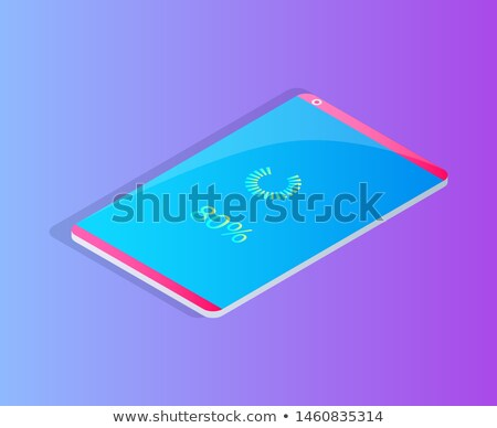 Smartphone on Charge or Loading Cartoon Badge Stock photo © robuart