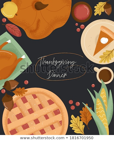 Turkey and Pumpkin Products Thanksgiving Vector Stock photo © robuart