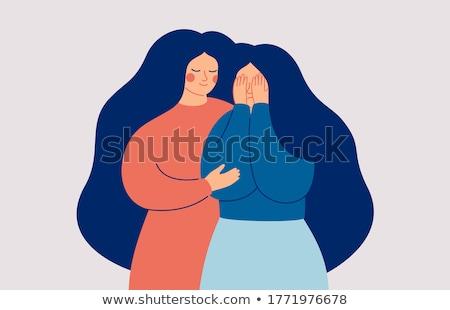 Girl Miscarriage Illustration Stock photo © lenm
