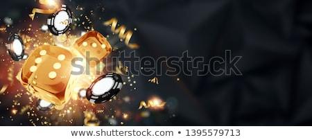 casino and jackpot background   gambling chips dice and money stock photo © winner