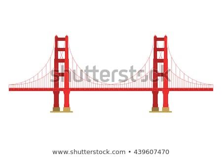 Ver Golden Gate Bridge San Francisco paisagem cidade oceano Foto stock © dolgachov