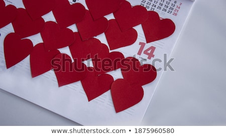 Date calendrier saint valentin vacances fiche Photo stock © dolgachov