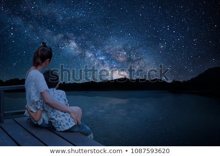 Stock photo: Looking at the starry sky