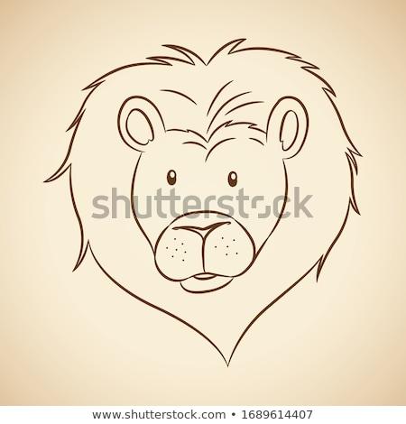 állatöv · felirat · rajz · illusztráció · művészet · Afrika - stock fotó © cidepix