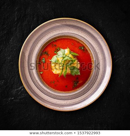 Gevuld soep selderij blad restaurant Stockfoto © grafvision