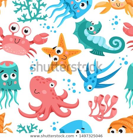 Marine Life Cartoon Set Stock photo © patrimonio