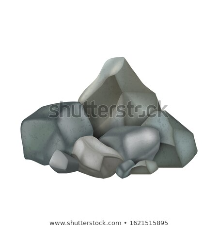 Stone Rock Stacked Pile Fieldstone Color Vector Stock photo © pikepicture