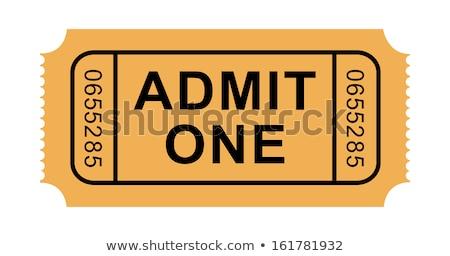 Uno biglietto coppia biglietti isolato bianco Foto d'archivio © cidepix