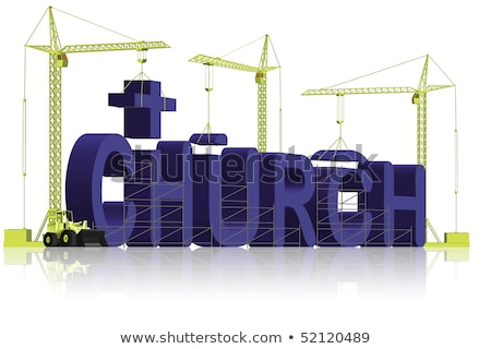 house under construction engineer building house word stock photo © lichtmeister