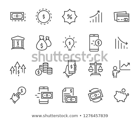 Digitale rekening icon internet technologie Stockfoto © bspsupanut