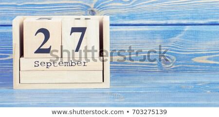 Cubes calendar 27th September Stock photo © Oakozhan