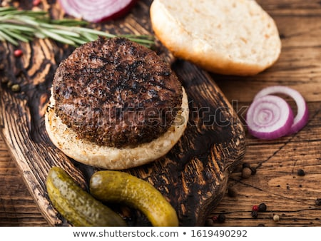 Fresco pimenta carne vintage Foto stock © DenisMArt