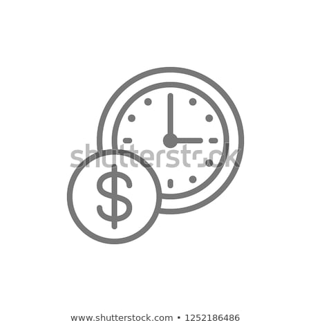 Time is Money Icon Vector Outline Illustration Stock photo © pikepicture