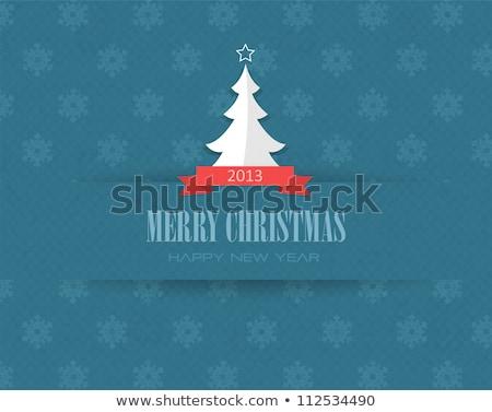 Family Greet with Christmas, Merry Xmas Postcard Stock photo © robuart