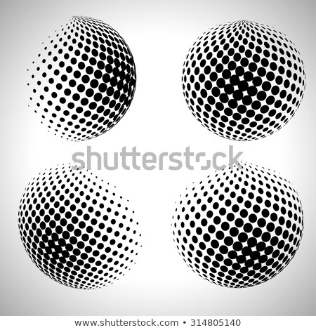 Vector abstract stippel halftoon planeet internet Stockfoto © designleo
