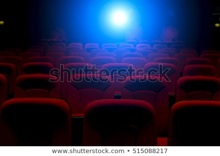 Empty cinema theater hall with blue screen Stock photo © LoopAll