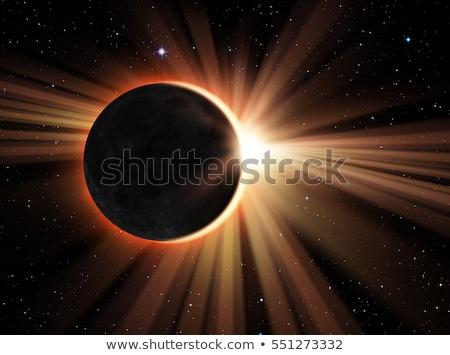 Zonne eclips evenement maan bewegende zon Stockfoto © solarseven