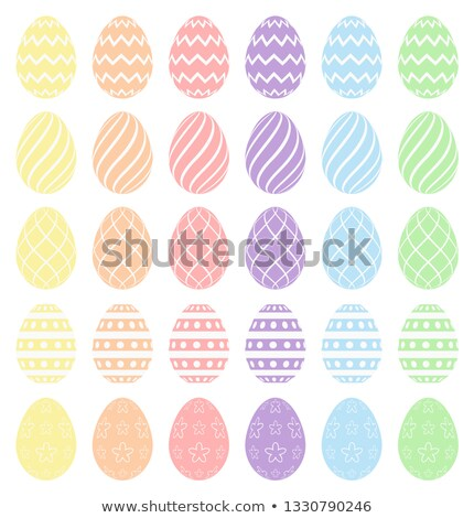 Easter eggs, collection of easter eggs. Pastel spectrum colors. High quality vector eggs isolated on Stock photo © ukasz_hampel