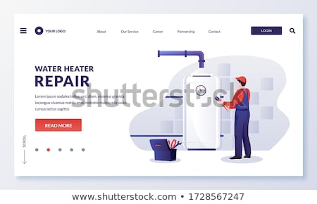 House Heater Equipment For Heating Water Vector Stock photo © pikepicture