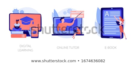 Online tutor service concept vector illustration. Stock photo © RAStudio