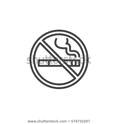 Kanker geen icon vector schets illustratie Stockfoto © pikepicture