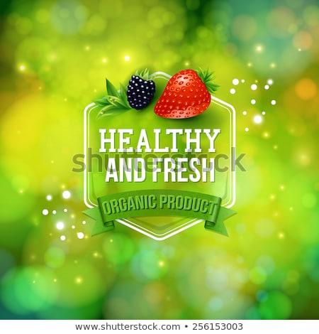 Dieta sana alimentare frutta pubblicità poster vettore Foto d'archivio © pikepicture