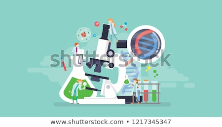 Genetic testing concept landing page. Stock photo © RAStudio