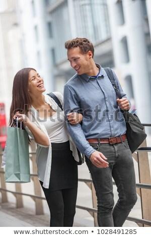 カップル 徒歩 街 一緒に 幸せ アジア ストックフォト © Maridav