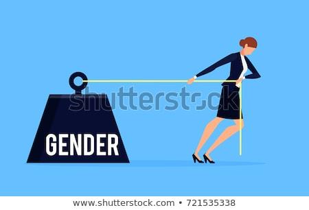 Geslacht discriminatie abstract werkplek vaardigheden vrouwen Stockfoto © RAStudio